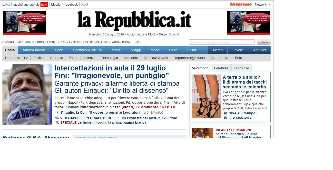 Attualit e notizie ischia blog for Home page repubblica