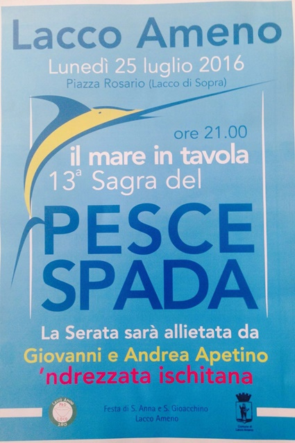 A lacco ameno il mare arriva in tavola in piazza rosario la 13 sagra del pesce spada - Il mare in tavola ...