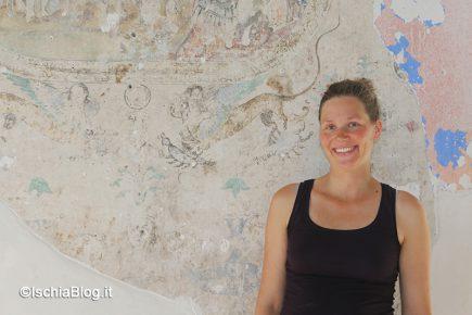 Ischia: procede il recupero degli affreschi alla Torre Guevara [FOTO]