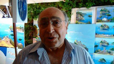 Il Maestro Roberto Zaccardelli dipinge il suo amore per Ischia [FOTO, VIDEO]
