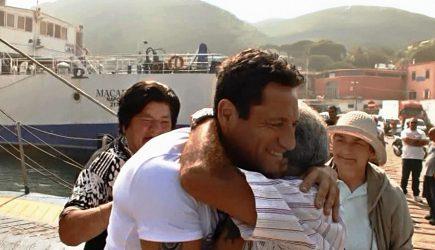 L'atleta olimpionico Gianni Sasso accolto come un eroe sul porto d'Ischia